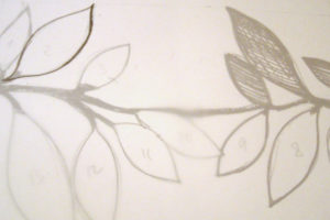 Cinturón novia - Diseño y plantilla (Paso 1)