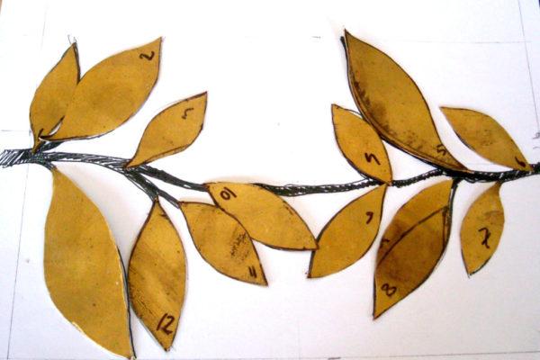 Cinturón novia - Piezas de latón terminadas (Paso 2)