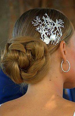 Tocado de novia en plata 925 y circonitas